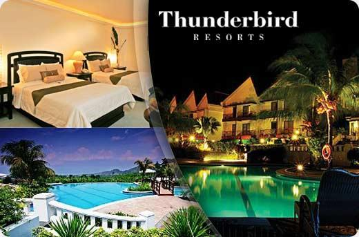 P4500 instead of P9000 for a Charming Overnight for 2 Persons at Thunderbird Resort in Rizal with P300 Fiesta Casino Vouchers