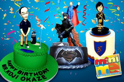 30 Off Cake With Mini Me Topper By Mini Me Caricature Dolls