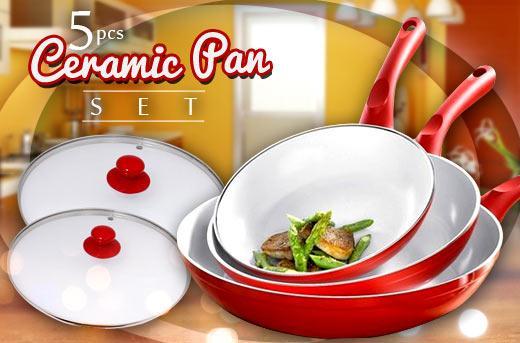 55% off Non-Stick Ceramic Pan Set Promo